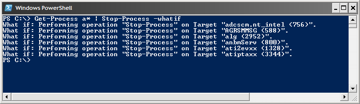 Sample PowerShell screenshot