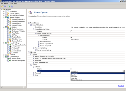 Power Management settings in Group PolicyExtensions