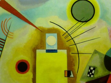 Fragment of Kandinsky's painting featuring iPod