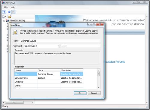 Adding WMI Exchange 2003 Node to PowerGUI