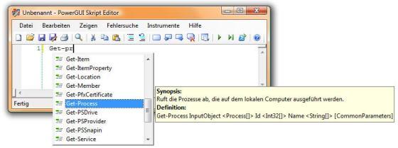 PowerGUI Editor in German