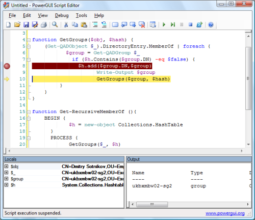 PowerGUI PowerShell IDE script editor anddebugger