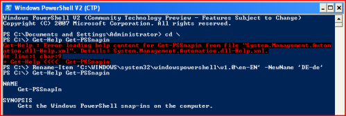 Error loading PowerShell help on localized Windows
