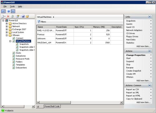 VMware PowerShell UI console