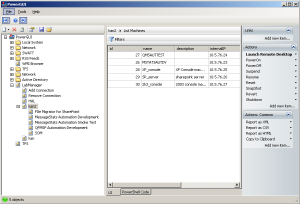 Managing VMware LabManager from PowerGUI and PowerShell