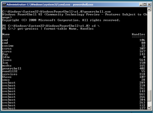 PowerShell v2 running on Windows Server 2008 Server Core