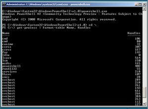 PowerShell v2 running on Windows Server 2008 Server Core