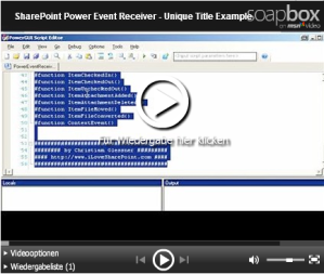 SharePoint PowerEventReceivers Demo