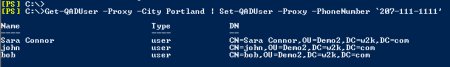 Change phone number with PowerShell