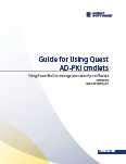 Guide for Using Quest AD-PKI cmdlets: Using PowerShell to manage your security certificates