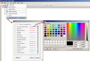 Syntax highlightcolor picker for PowerShell in PowerGUI Script Editor