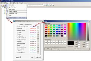 Syntax highlightcolor picker for PowerShell in PowerGUI Script Editor